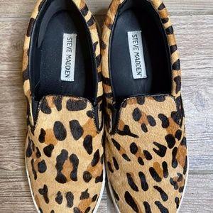 Steve Madden Leopard Ecentrcl Slip-On Sneaker